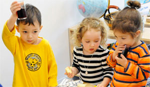 Preschool classes are mixed age classrooms & resemble family life