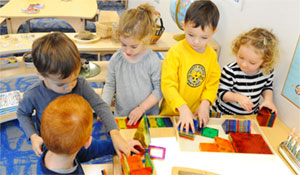 Preschool classes are mixed age classrooms that strengthen community